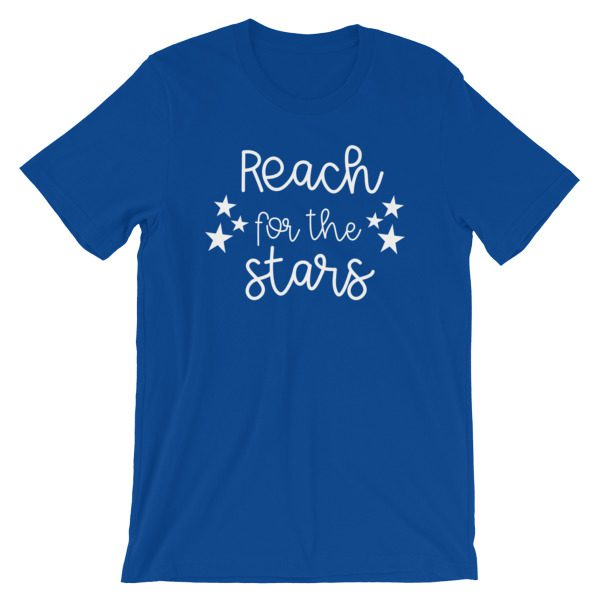 Reach for the stars tee royal blue