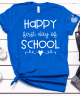 Happy first day of school teach in royal blue