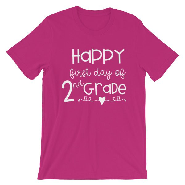 Berry First Day of 2nd Grade teacher tee