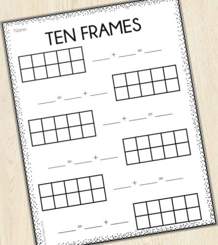 Ten Frames Printable