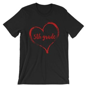Love 5th Grade tee- Black with Red