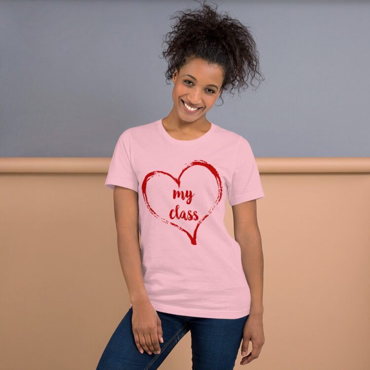 Love my Class tee- Pink and Red