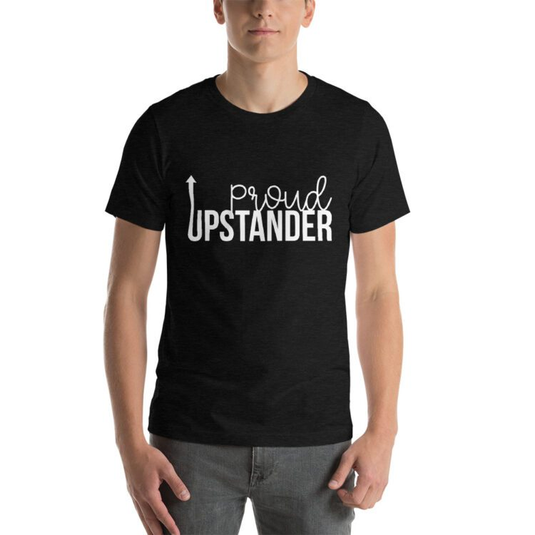 Proud Upstander tee- Heather Dark Gray