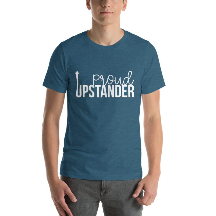 Proud Upstander tee- Heather Deep Teal