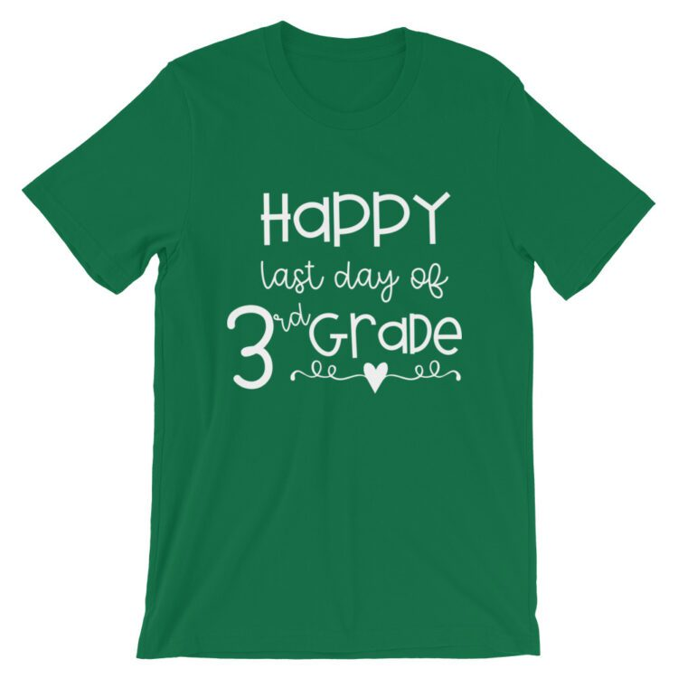 Kelly Green Last Day of 3rd Grade tee