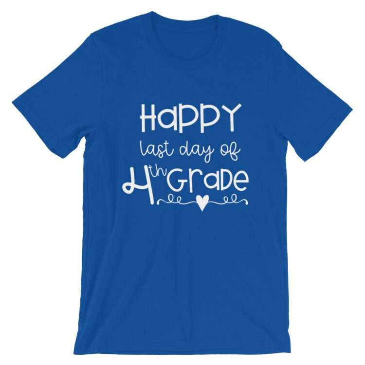 Royal Blue Last Day of 4th Grade tee