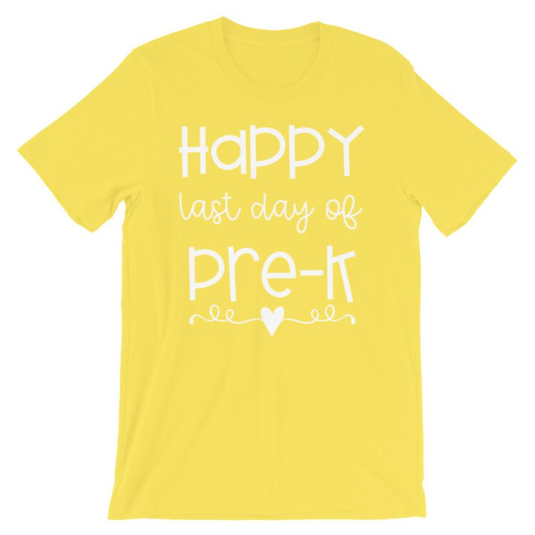 Yellow Last Day of Pre-K tee