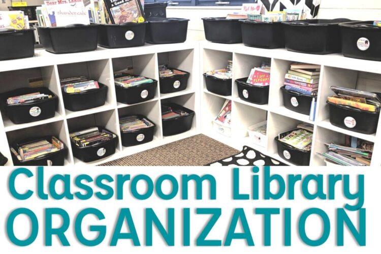 Classroom library organization image