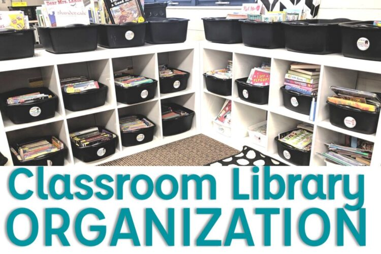 Classroom library organization image