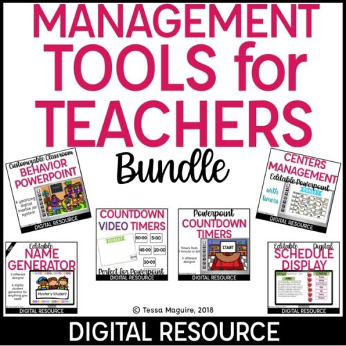 Digital Classroom Management Tools Bundle cover