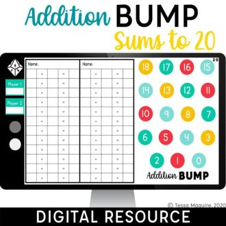 Digital Addition Bump Games Sums to 20
