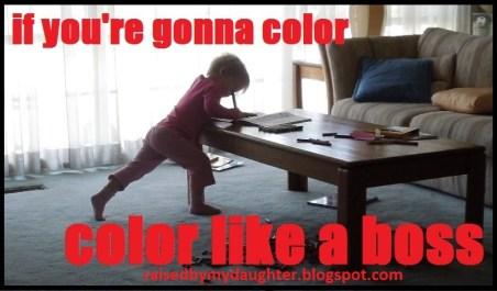 coloring like a boss meme2