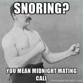 Snoring _ midnight mating call