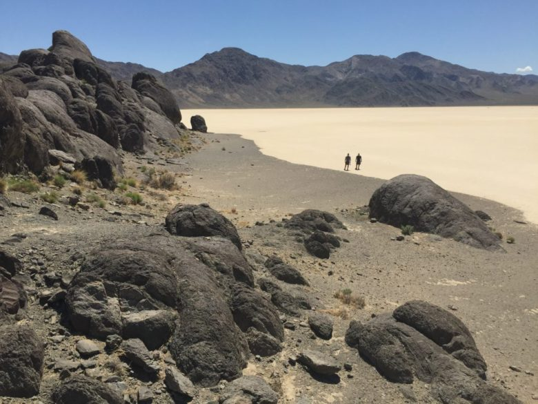 Death Valley National Park, dry lake, racetrack, grandstand, California, playa