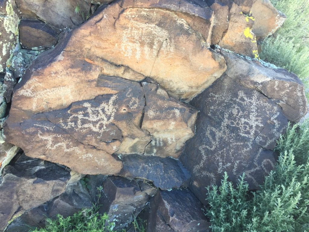 White River Narrows, Cane Site A, Pahranagat Valley, Lincoln County, Great Basin, Nevada, Petroglyphs, Rock Art