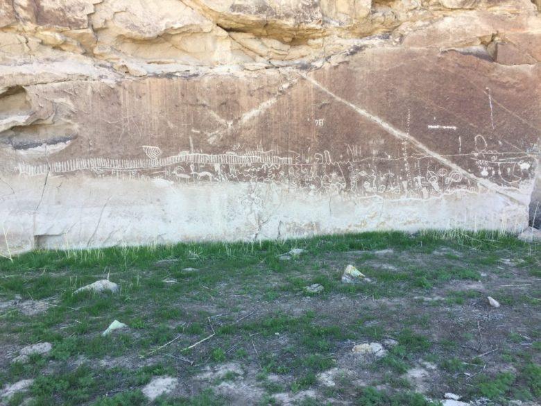 Nevada, Lincoln County, Pahranagat Valley, White River Narrows, Canyon, Great Basin Desert, Petroglyphs