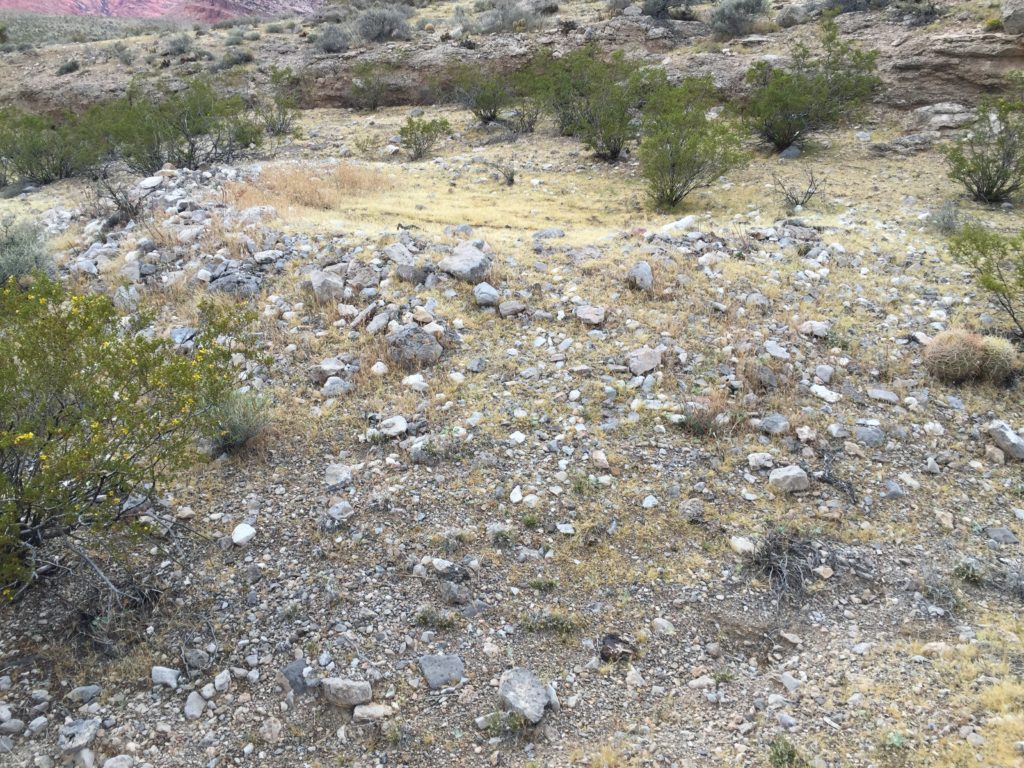 Brownstone Canyon, Las Vegas, Red Rock, RRNCA, Nevada, Pictographs, Petroglyphs, Rock Art, Agave Roasting Pit
