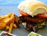 Mozzarella Melt Beef Burger| Sarah James | https://www.talesfromthekitchenshed.com
