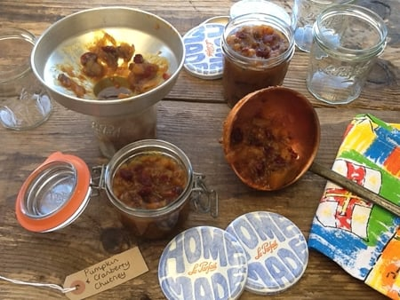 Spicy Pumpkin & Cranberry Chutney is a great way to use up your Halloween pumpkins. If you make your chutney now it will be nicely matured in 6 weeks, just in time to serve with cheese & cold meats over Christmas. Slow Cooker & traditional method included in recipe.