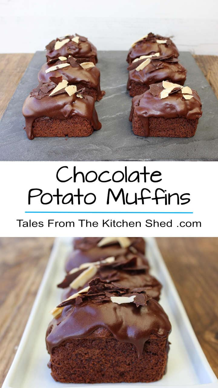 You would never know leftover potato mash is used in these super moist delicious Chocolate Potato Muffins !