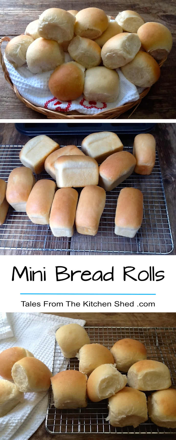 Mini Bread Rolls – you can't beat a basket of homemade rolls! Easy to make with step by step instructions for soft & fluffy rolls every time.