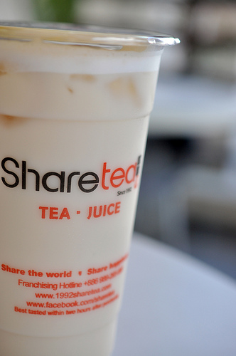 Drinks and Snacks at Share Tea