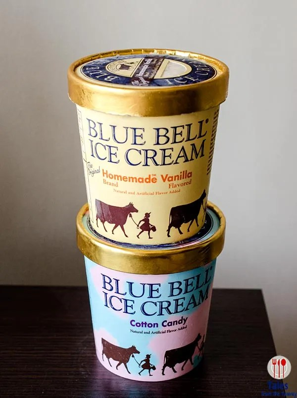 Blue Bell Ice cream pints