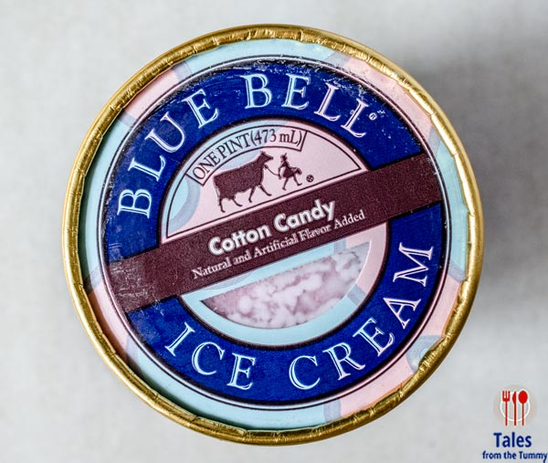 Blue Bell Ice cream cotton candy