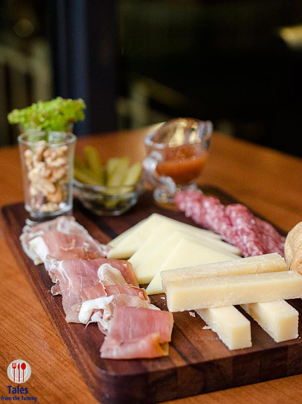 Mesclun Bistro Charcuterie and Cheese Platter