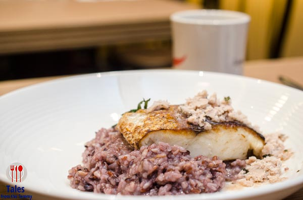 Duck and Buvette Pan Seared Hake with 3 Grains Risotto