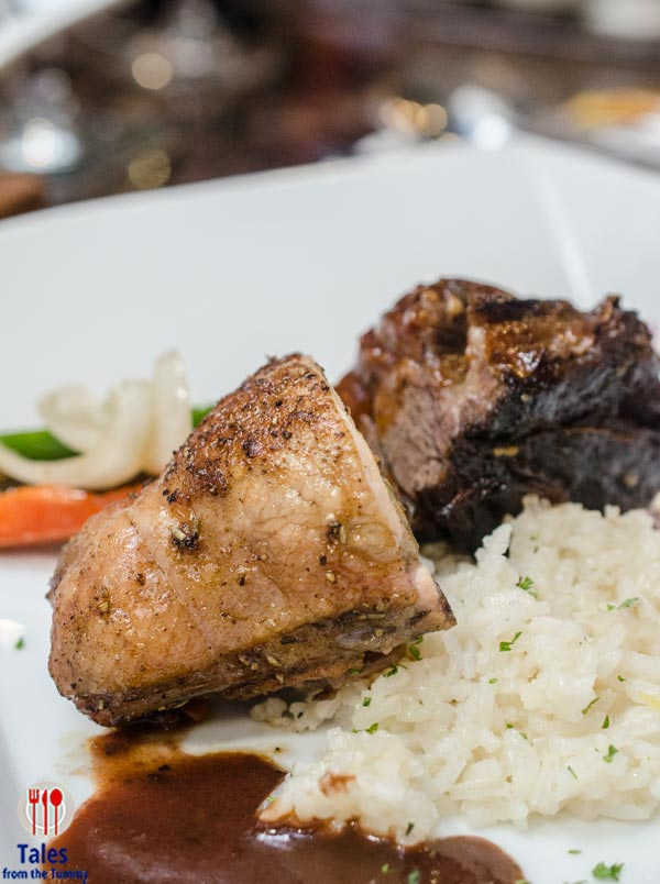 Jet 7 Bistro and Steakhouse Herb Roasted Chicken BBQ Beef Rib