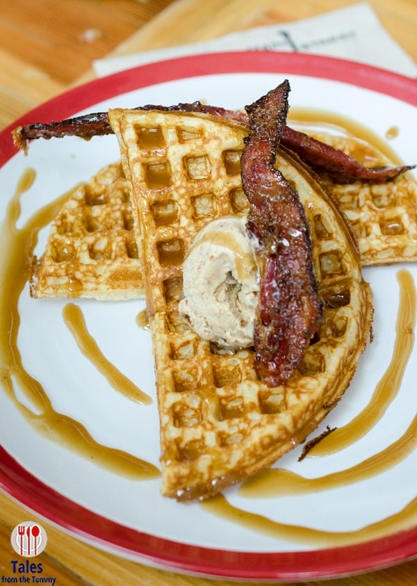 Main Street Tuscany Weekend Brunch Bacon Waffles and Ice Cream