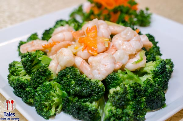 Crystal Jade Dining In BGC Sauteed Shrimp with Broccoli Flower