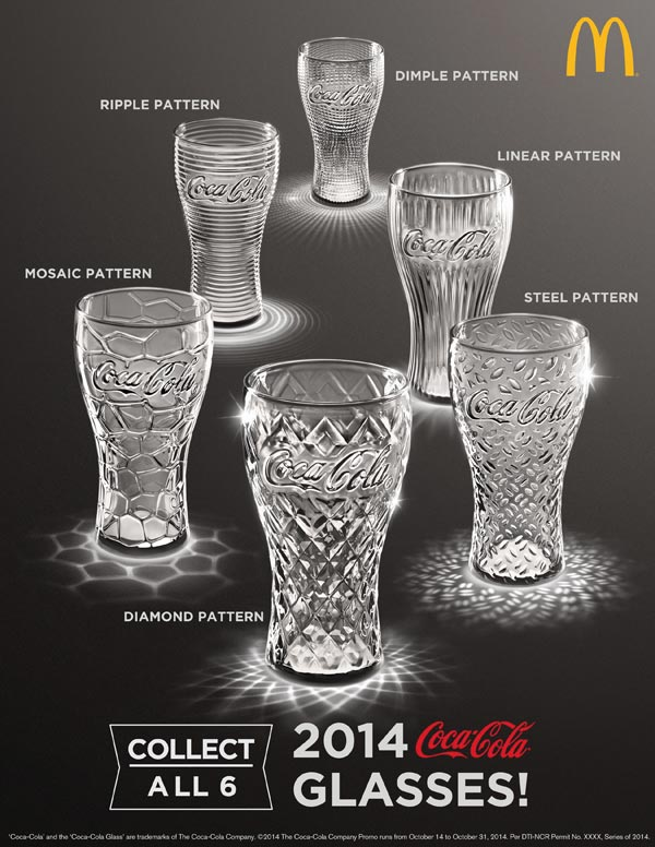 McDonalds 2014 Modern Coke Glass Collection