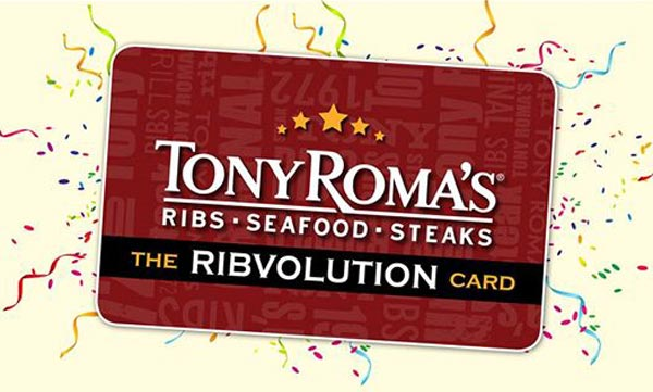 Tony Romas BGC Romalution Priveledge Card