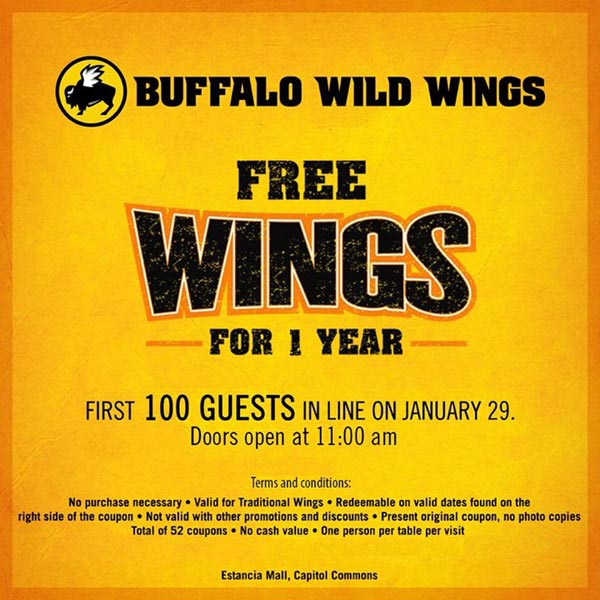Buffalo Wild Wings Estancia Mall Ph 01