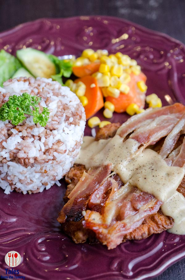 k and l cafe katipunan open faced cordon bleu