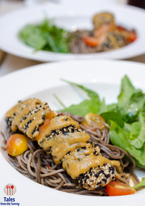 Magnum Cafe Salmon Steak with Soba