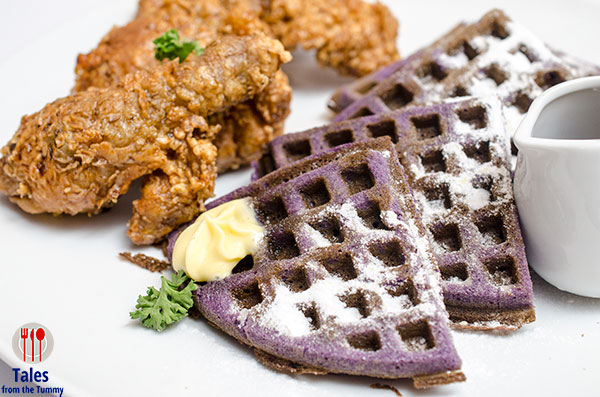 Diner on 16th Kapitolyo Soy Ginger Chicken and Ube Waffles