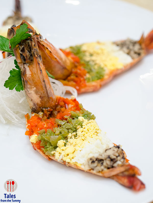 City of Dreams Signature Club Steamed Five Colored Prawns