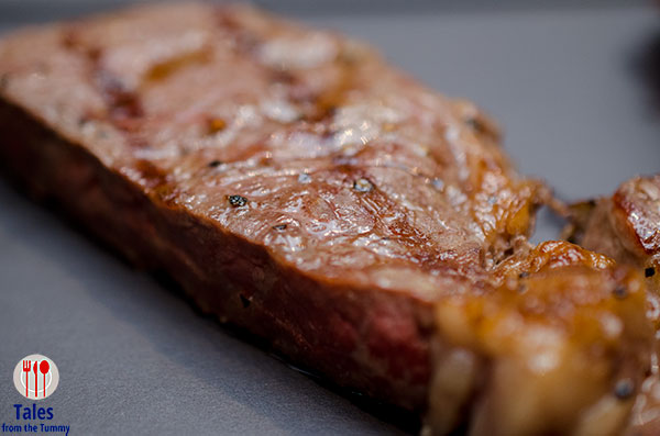 Bolzico rib eye steak medium