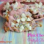 Pink Chocolate Pretzel Bark Easter Treat & Recipe