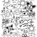 Colouring pages for Adults-Free Travel printable to colour