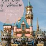 Four Days of Adventure in Disneyland, California
