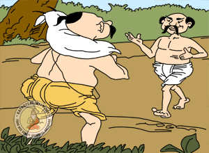 The Brahmin And The Crooks - Panchatantra Story Picture