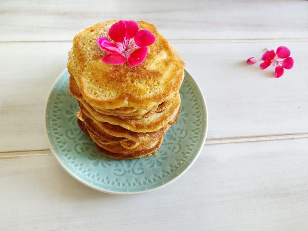 Stack of super fluffy spelt pancakes