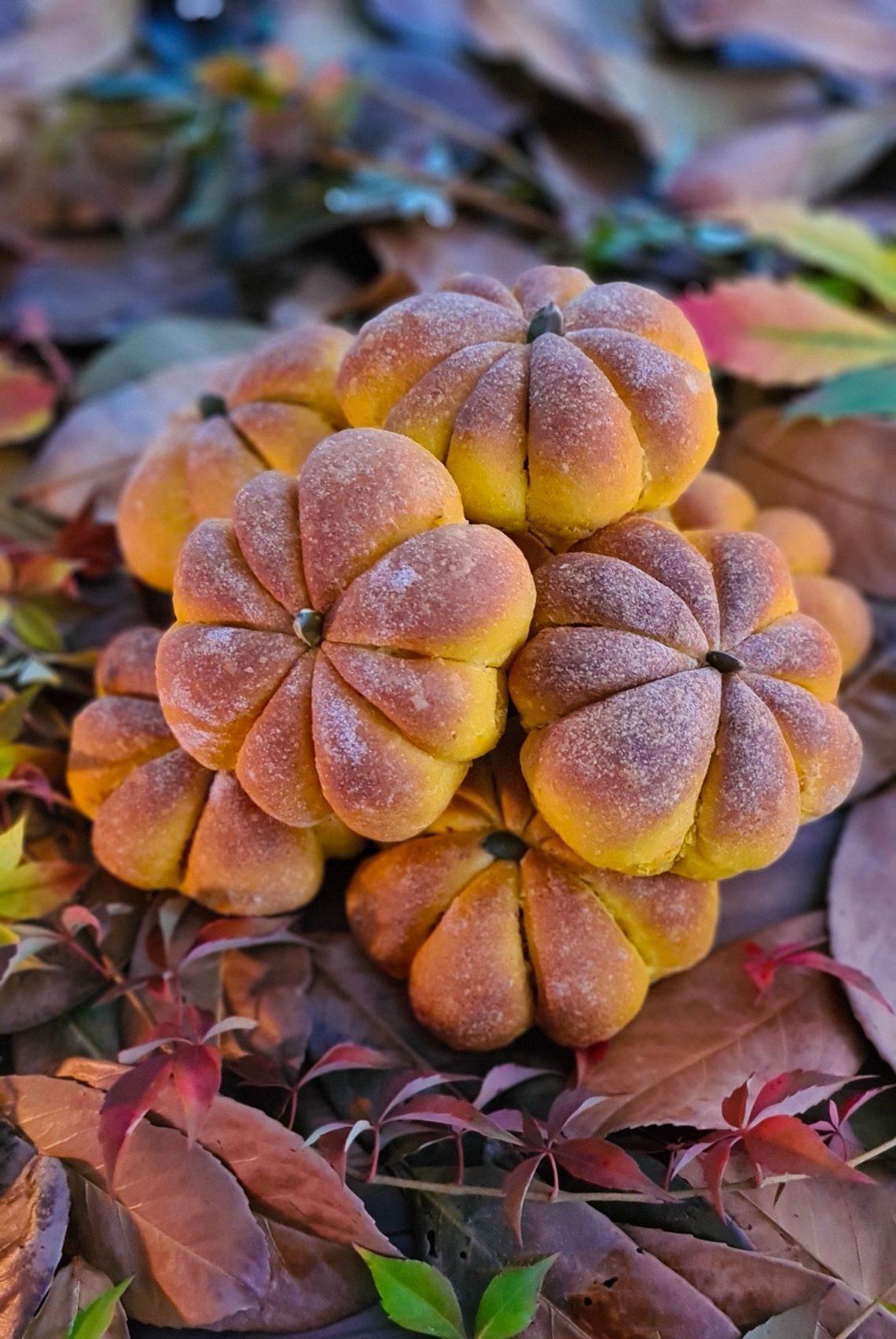 Pumpkin shaped Pumpkin Buns DIY