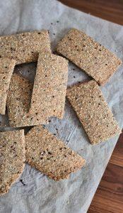 Recipe Easy multigrain seed crackers