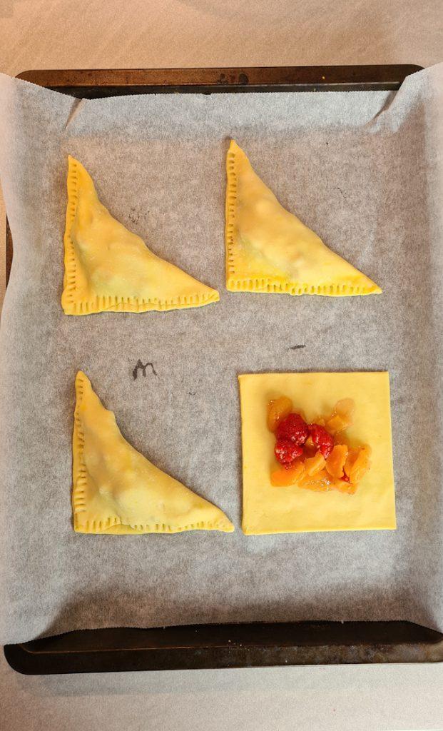 Apricot, Raspberry & Prosecco Turnovers