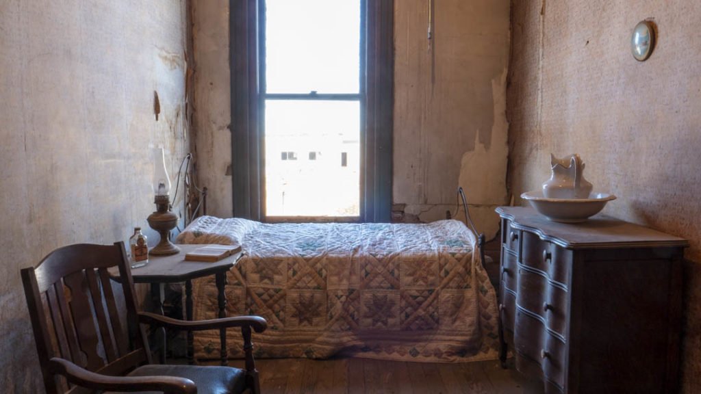 Recreation of the room John Wilkes Booth died at in the now Garfield Furniture building - photo by Dennis Spielman